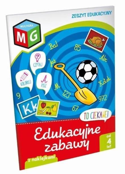 TO CIEKAWE Edukacyjne zabawy - Zeszyt edukacyjny z naklejkami, MG (1)